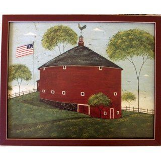 Round Barn Warren Kimble Framed Print Folk Art Home