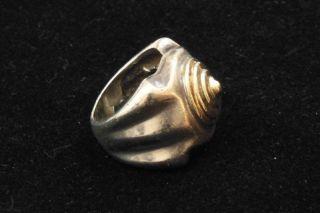 Holman 925 Sterling Silver & 14K Yellow Gold Ring