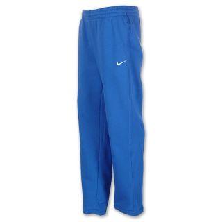 Nike Classic Fleece Open Hem Mens Pants Blue/White