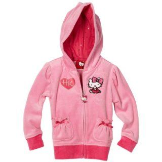 Hello Kitty Girls 2 6X Long Sleeve 3 Bow Hoodie, Pink, 6