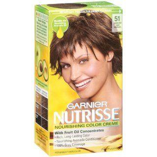 Garnier Nutrisse Haircolor, 51 Medium Ash Brown Cool Tea