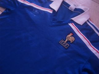 Vtg Adidas France Wolrd Cup 1986 1984 Home Football Shirt Jersey