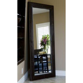 Leather Floor Mirror Home Decor Living Room Mirrors Furniture Bedroom