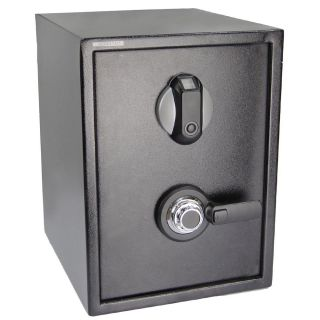 Fingerprint Combination Lock Safe Gun Cash Box Home Security Biometric