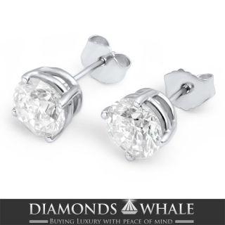 Ct Real Classic Diamond Stud Earrings 18K Yellow Gold