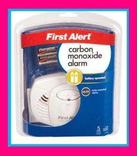 ALERT Carbon Monoxide Detector Alarm Battery Oper Home Safety CO400
