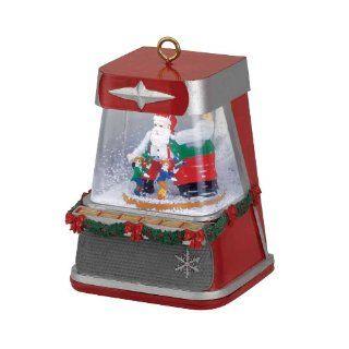 Gold Label Retro LED Snow Globe Jukebox Ornament Home
