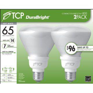 TCP 6R3014B2 14 Watt R30 DuraBright CFL Flood Light Bulb, Soft White