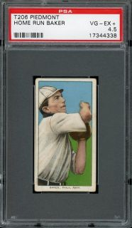 1909 T206 Home Run Baker   Philadelphia Athletics   HOF   PSA 4.5