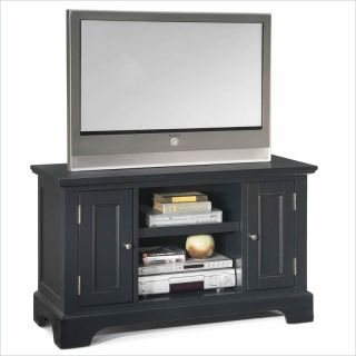 home styles bedford wood tv stand in ebony finish 207823 contemporary
