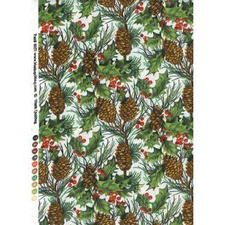 Blank Quilting Tis The Season Pine Cones & Holly 6057