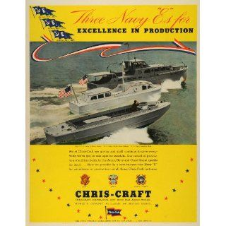1942 Ad Chris Craft Army Q Boats Navy Picket E Flags World