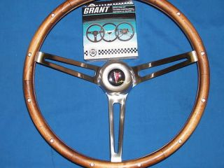 1964 1965 1966 Pontiac Walnut Grant Steering Wheel Kit