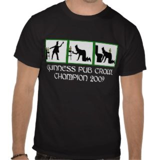 Funny Irish pub crawl T Shirts
