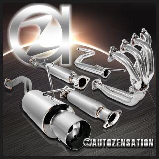 92 00 Honda Civic 2 4DR SOHC Exhaust Header Cat Test Pipe Muffler