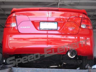 10 Honda Civic SI 70mm Pipe Performance S2 Catback Exhaust 4DR