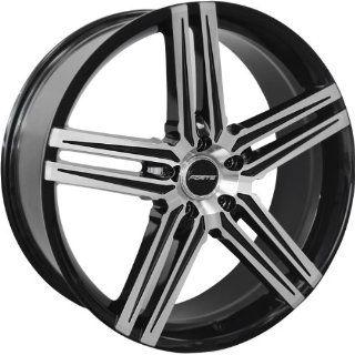 22x8.5 Forte F57 Phantom (Black Mirror) Wheels/Rims 5x115 (F57