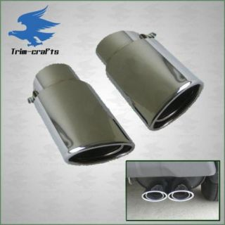 Chrome Exhaust Tips Dual Tip Honda Accord Pilot Acura