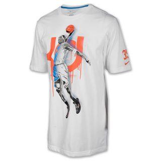 Mens Nike Kevin Durant Hero Tee Shirt White/Orange
