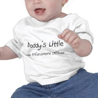Daddys Little Law Enforcement Officer T Shirts