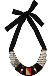 Oscar de la Renta Bead and enamel ribbon necklace