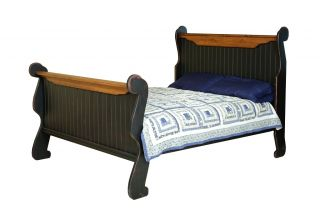 primitive furniture bedroom set sleigh bed rustic country cottage king