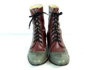 Vintage Womens Hondo LACERS Cowboy Western Boots Granny Victorian