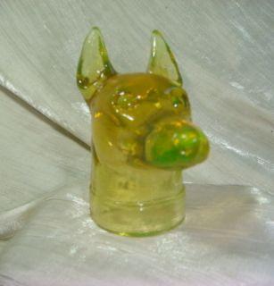 Boyd Doberman Pinscher Dog Head Honey Glass Dobe