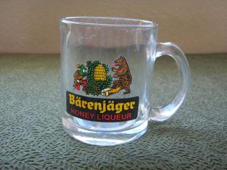 Collectible Souvenir Barenjager Honey Liqueur Glass Coffee Mug s