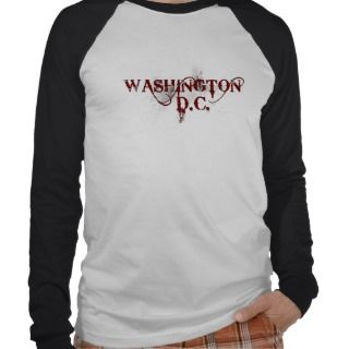 Baby Blue Graphic Circle Washington DC T Shirt