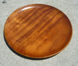 Vintage KOA WOOD TRAY BLAIR CHARGER PLATTER HAWAII LUAU TIKI BAR