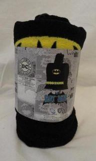 DC Comics Originals Batman Hooded Bath Towel for Kids 4 7 Black Yellow