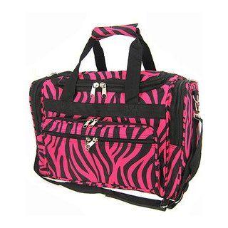 Hot Pink Black Zebra Duffle Dance Cheer Gym Bag Large 22