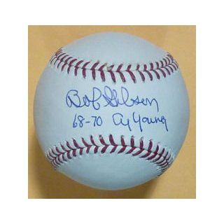 St Louis Cardinals MLB Baseball w/68 70 Cy Young insc: Collectibles