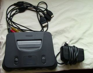NINTENDO 64 GAME CONSOLE ONLY INTEC MULTI SYSTEM RCA CABLES VIDEO