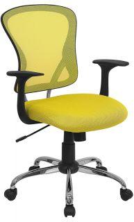 Back Ergonomic Swivel Tilt Home Office Task Desk Chairs w Arms