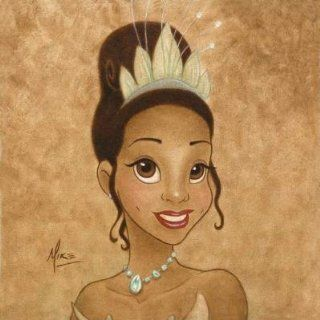 Princess Tiana   Disney Fine Art Giclee by Mike Kupka