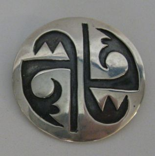 Vintage HOPI Sterling Silver Pin Native American Jewelry Collection