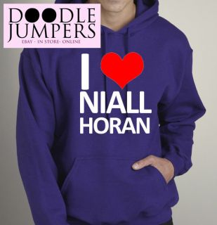 Love Heart Niall Horan One Direction Hoodie Hoody Girls UK Seller