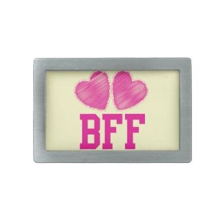 BFF Best Friends forever with love hearts Belt Buckle