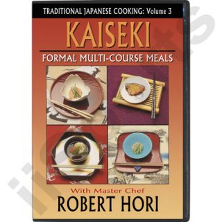 Japanese Cooking Cookbook Formal Kaiseki DVD NEW Chef Robert Hori