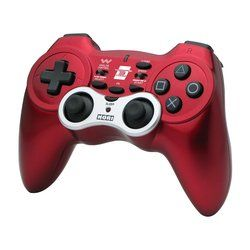 Hori PS3 Wireless Turbo Controller Horipad Used Red