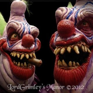 2012 Pit Boss Killer Clown Halloween Mask Prop Horror Monster