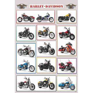 Harley Davidson Motorcycles Big Bike Sport Classic Model Poster Rare