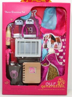 Horse Grooming Set Fits American Girl 18  Doll Wonderful Fun Riding