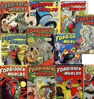 Golden Age Horror Comics THE FORBIDDEN WORLDS complete set of 145
