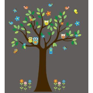 Baby Nursery Wall Decals Forest Woodlands Owls Childrens