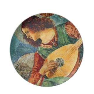 Renaissance Angel Decorative Christmas Plate