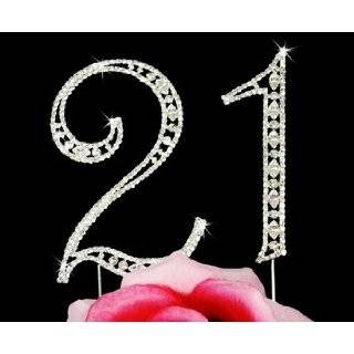 21st Birthday Swarovski Crystal Birthday Cake Topper