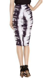 Zero+MariaCornejo Isis printed stretch twill pencil skirt   62% Off